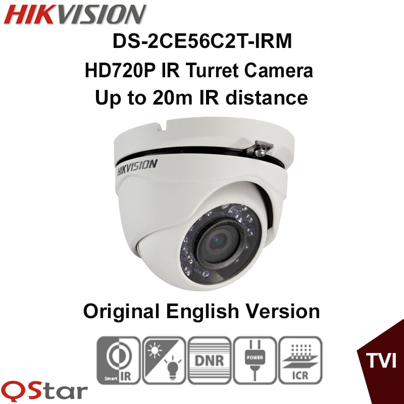 ФОТО Hikvision Original English Version DS-2CE56C2T-IRM HD720P Indoor IR Turret Camera 1.3MP 20m IP66 weatherproof CCTV Camera
