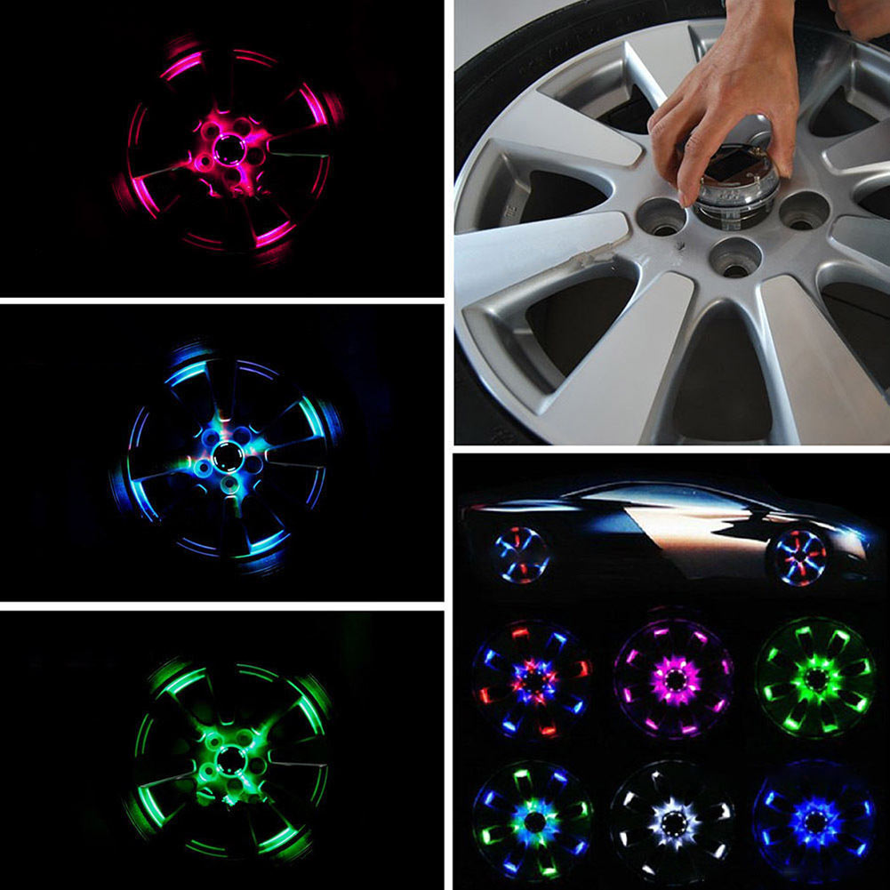 Vehemo 4 режима 12 LED Мода привлекательный автомобиль Авто Солнечная энергосберегающая Вспышка Цвет колеса Свет декор украшения