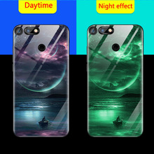 Luminous Phone Case For Huawei Honor 30S View V30 Pro V20 V10 10 9A Night Shine Glass Cover For Honor 30 20 Pro 8X 7X PLAY cases aurora luminous phone case for huawei honor view v30 v20 v10 night shine bcak cover for honor v30 dazzle colour glass case coque