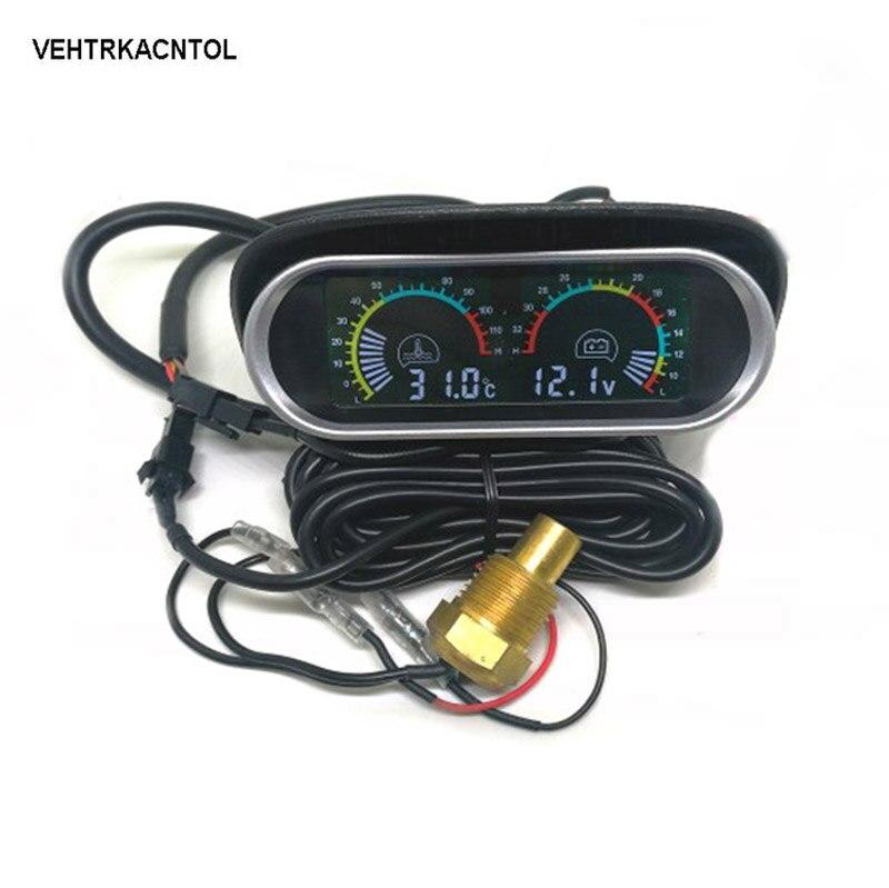 36 V Wasserthermometer Sensor Auto LCD Bildschirm Voltmeter Wassertemperaturanzeige 12 V 24 V