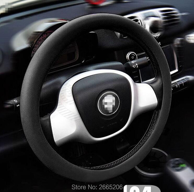 Car Styling Leather Texture Auto Silicone Steering Wheel
