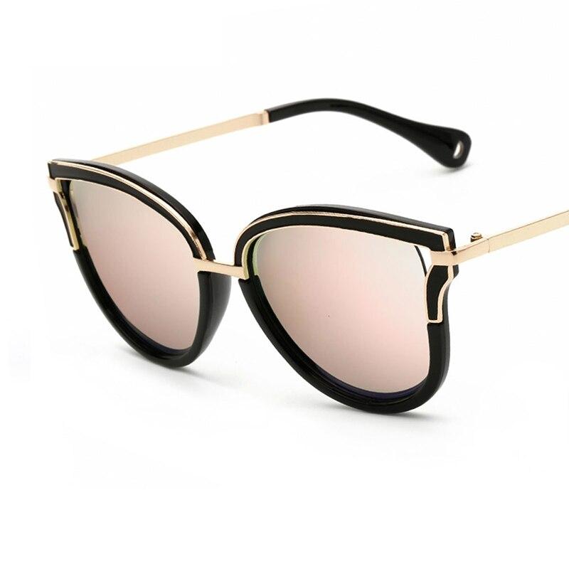 2017 mujeres color ciego Gafas de sol alta calidad marca americanos  europeos mujer Sol Gafas oval aleación Marcos espejo lente gafas en Gafas  de sol de ... a656f13de70e