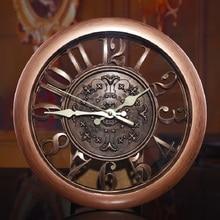ФОТО 2015 new creative fashion european retro living room wall clock mute quartz digital watches
