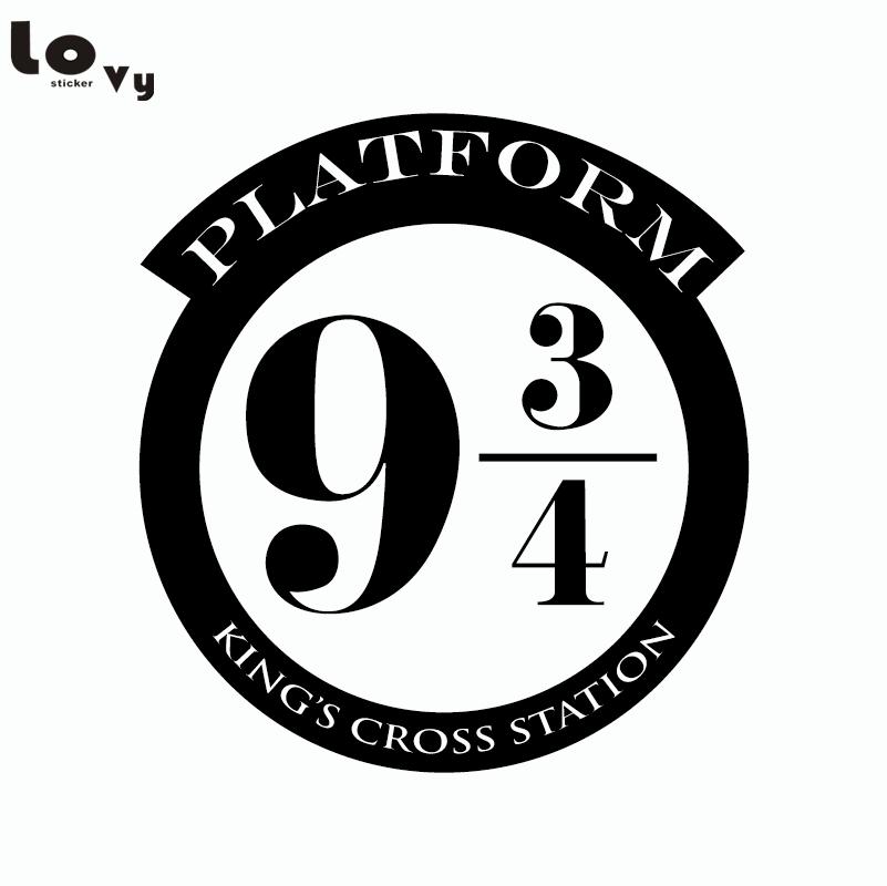 Harry Potter-platform 9 3/4 Kings Cross Cut Vinyl muurstickers voor kinderkamer woondecoratie