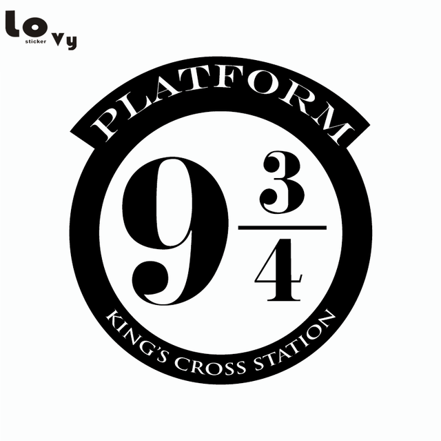 Harry Potter Platform 9 3 4 Kings Cross Cut Vinyl Wall