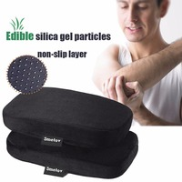 Armrest Pads With Navy Non Slip Bottom And Memory Foam Cushion Universal Fit For Home Office