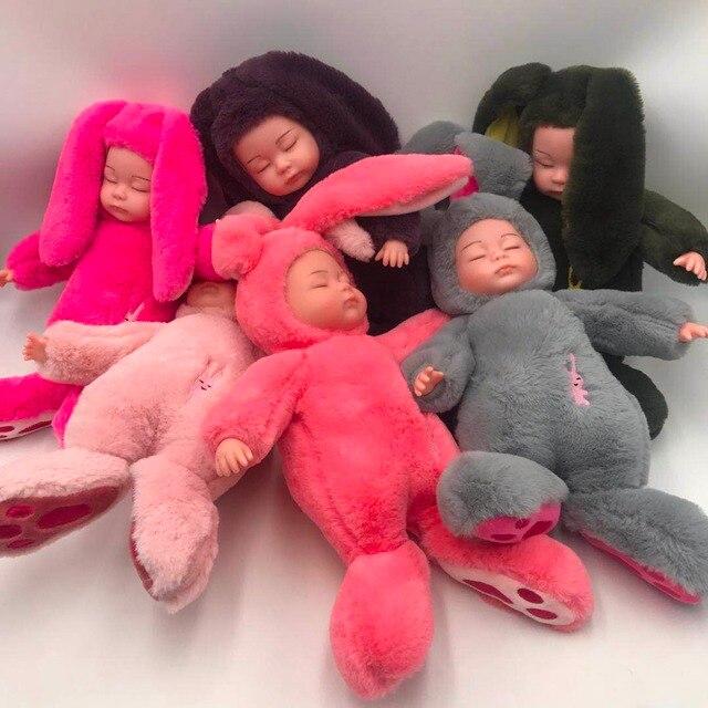 Mishotoys bebé conejo durmiente muñeca regalo Año Nuevo cumpleaños para niñas y niños lol muñecas envío desde Rusia