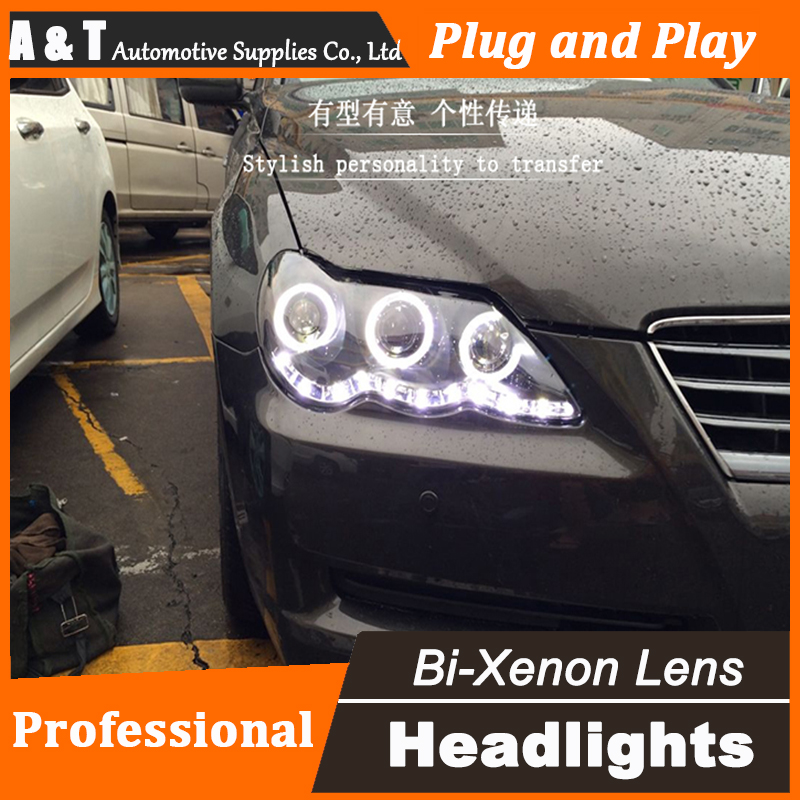 Car Styling New For Toyota Reiz Mark X headlights 2009-2012 Mark X led headlight head lamp led drl H7 hid Bi-Xenon Lens low beam car styling led head lamp for ford focus2 headlights 2009 2012 focus led headlight turn signal drl h7 hid bi xenon lens low beam