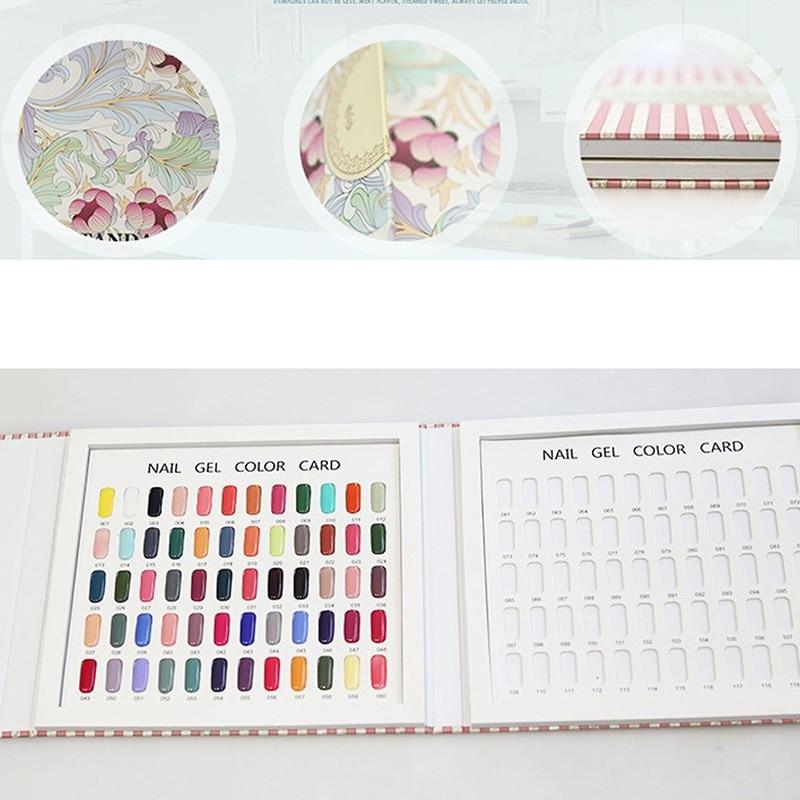 מקצועי מניקור צבע כרטיס הספר 120 צבע נייל פולנית צבע תצוגה איפור מניקור חנות נייל דוגמאות דוגמאות לתצוגה