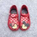 2016 brasil nuevo mini melissa zapatos de mickey y de minnie niñas Melissa zapatos de La Jalea de Cristal Sandalias de Los Niños Zapatos de Cabeza de Pescado Rojo negro