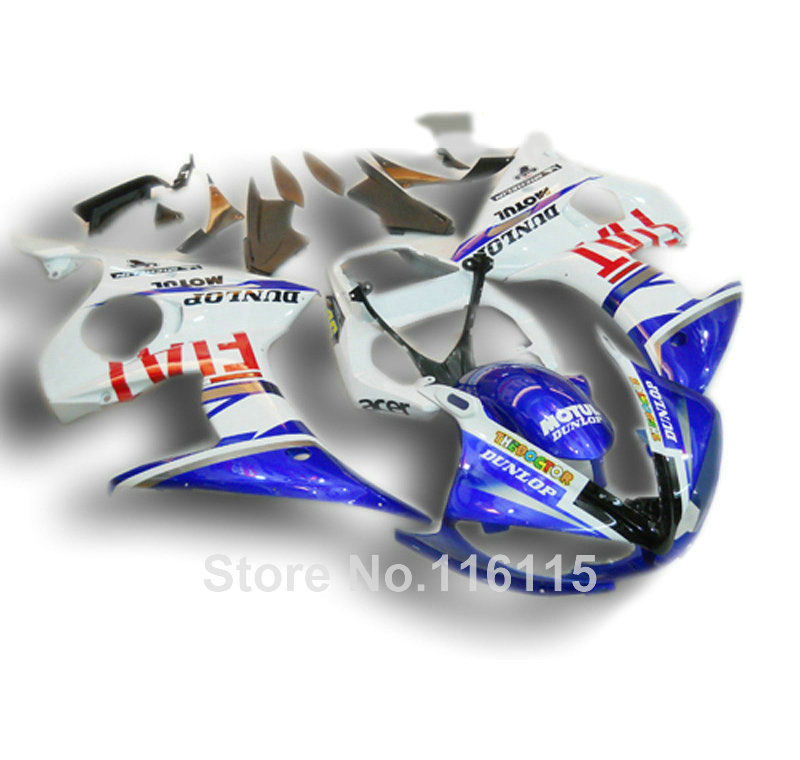 цена на High grade ABS fairings set for YAMAHA R6 2003 2004 2005 blue white fairing kit YZF R6 03 04 05 body kits 2320