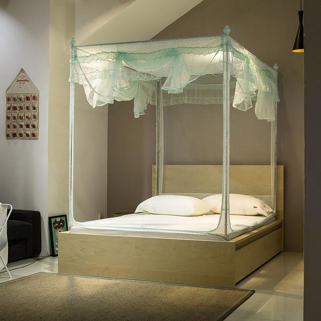 U anti mosquito de corte mosquitera para cama doble de tamaño de Reina cama para adultos dosel cama azul cubierta envío gratis