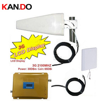 LCD Display 3g WCDMA Phone Booster 3G Repeater W 20 Meters Cable Antennas WCDMA REPEATER Phone