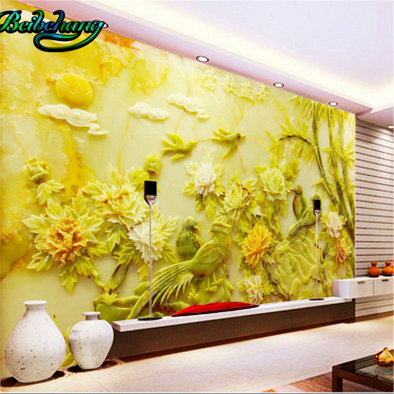Custom Any Size Modern Wall Wallpaper Pearl Butterfly Silk: Beibehang Large Custom Any Size Fresco Wallpaper 3d Need