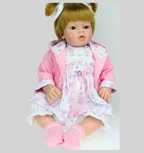 28 inch Big Toddler Reborn Arianna Rooted Hiar Little Girl Lovely Princess Baby Present Silicone Reborn Doll