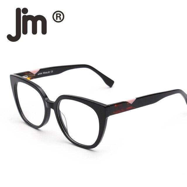 e97714a247 JM Oversized Non-Prescription Glasses Spring Hinge Eyeglasses Women Men  Clear Lens Acetate Frame