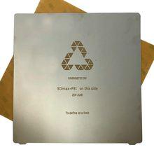 ENERJIK 1 pcs Yeni Yükseltme 235x235mm Esnek Bahar Çelik PEI Levha Isı Yatak Platformu Için Creality Ender-3 CR-20 3D Yazıcı