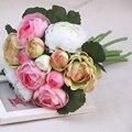 2017 Новый Дизайн Свадебные Цветы Свадебные Букеты Белый Розовый Зеленый Искусственный Цветок Букет Невесты Mariage На Складе