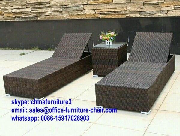 vente chaude plage transat piscine transat canap avec table dappoint extrieur meubles - Transat Piscine