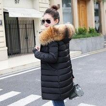 Зимнее женское пальто с воротником из натурального меха, новинка, модная зимняя куртка из натурального меха, Женская парка, тонкий пуховик, женская теплая верхняя одежда