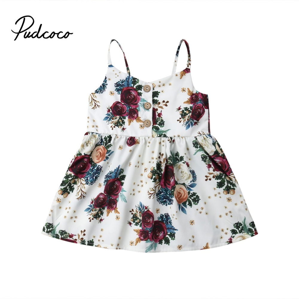 Pudcoco 2019 Cute Toddler Baby Girls Lovely Flower Princess Sleeveless Strap Dress Sundress Summer ClothesPudcoco 2019 Cute Toddler Baby Girls Lovely Flower Princess Sleeveless Strap Dress Sundress Summer Clothes