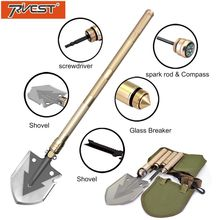 цена на Military Shovel Folding Portable Camping Tactical Survival Shovel Multifunctional Knife Outdoor Garden Hand Tools Screwdriver