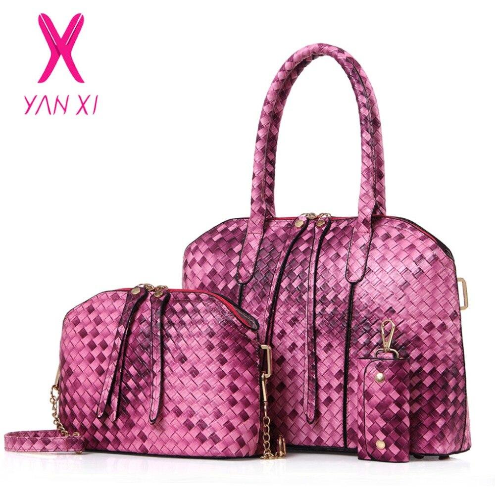 ФОТО YANXI New Factory Outlets Leather Female Retro Lady PU Handbags Messenger Shoulder Totes Luxury Handbags Women Bags Designer