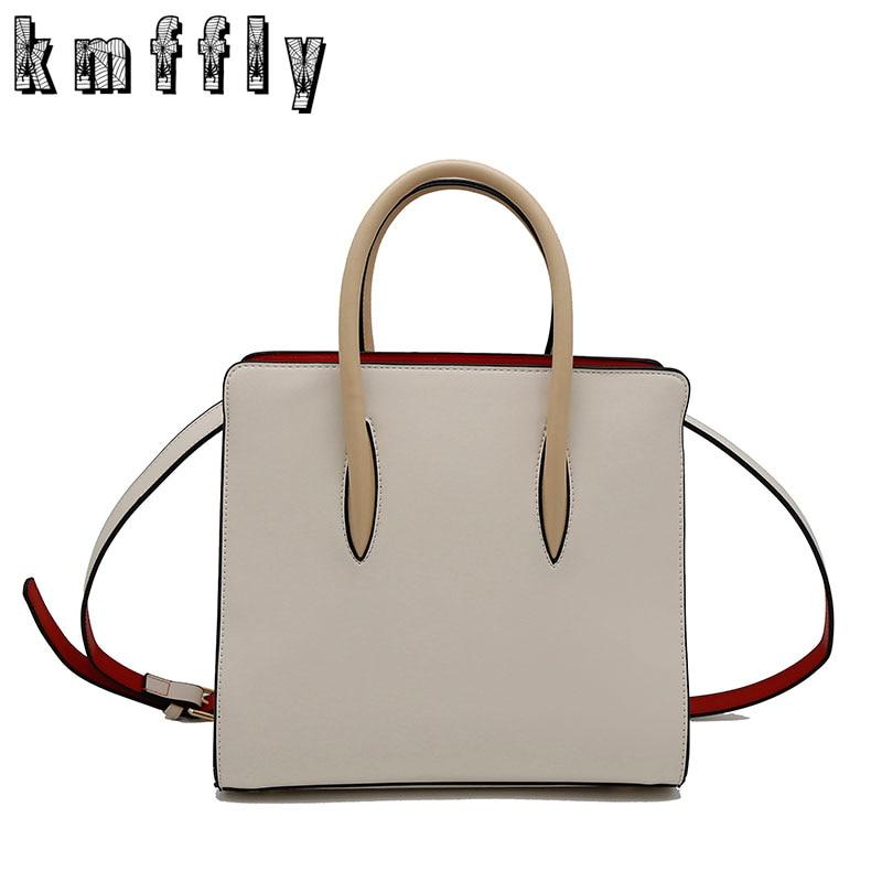 ФОТО KMFFLY 2017 Women Smile Bag Casual Rivet Tote Bag Luxury Brands Designer Handbags High Quality PU Leather Ladies Shoulder Bags