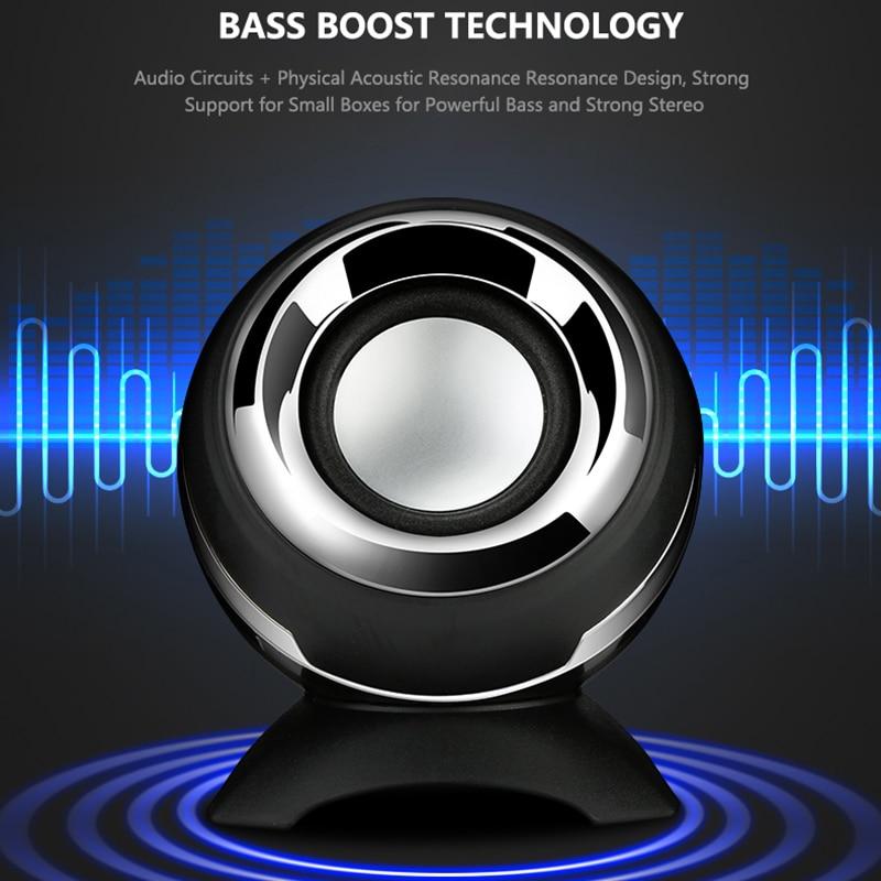 Mini Portable 3 5mm Speaker USB Wired Speaker Portable Travel Loudspeaker Music MP3 Player For Laptop Phone in Portable Speakers from Consumer Electronics