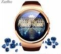 Bluetooth kw18 smart watch relógio de pulso para ios smartphones android suporte conectado sincronização call messager cartão duplo do sim