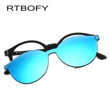 RTBOFY Brand UV400 Classic Clip On Sunglasses Men Magnet Women Eyewear Glasses Frames TR90 Optical Frame DY2285-4