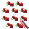 20pcs (10pairs) Anti-skidding Deans Plug T Style Connector Female / Male for RC Battery ESC