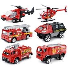 6 יח\סט 1:87 כבאי אש לחימה משאית מנוע מסוק בקרת מפעיל הגנה כבאי ילדים צעצועי בני עבור סם