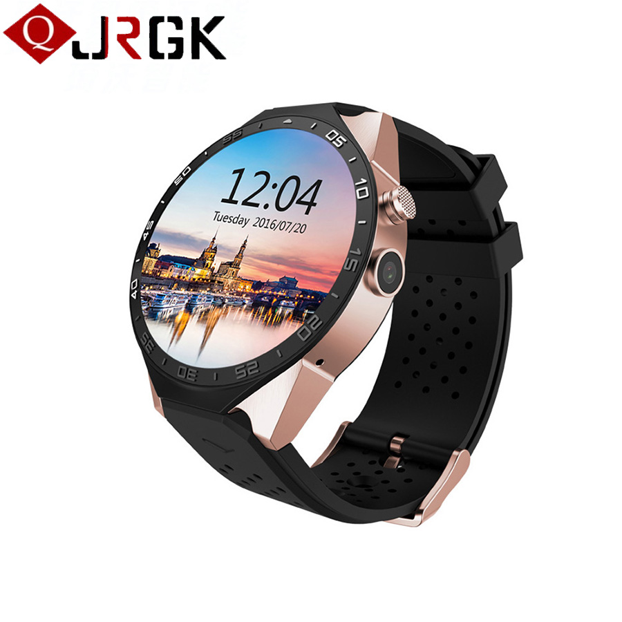 JRGK KW88 Bluetooth 4.0 Smart Watch Android 5.1 MTK6580 Wifi Smartwatch 3G GPS Watch Phone with 2.0MP Camera PK GT08 K88H DZ09 цена и фото