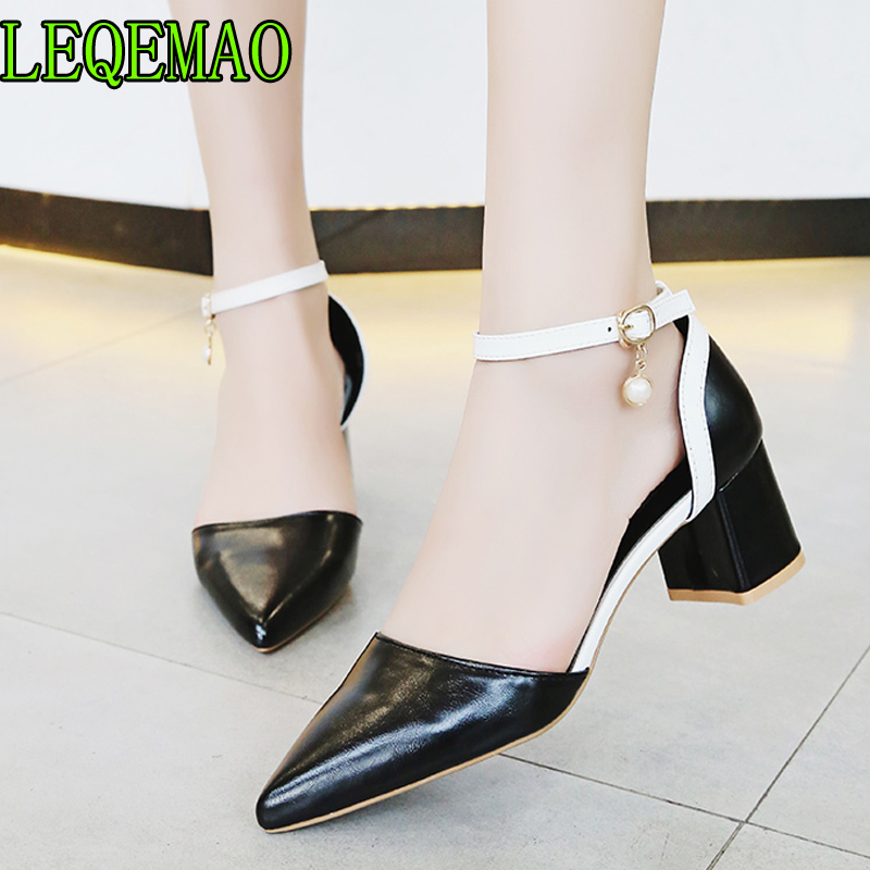 Women Sandals Shoes Ladies High Heels Pumps Sexy Dancing Party Wedding Ladies Shoes Zapatos Mujer Ankle Strap Pointed Toe Pumps For Fast Shipping School & Educational Supplies