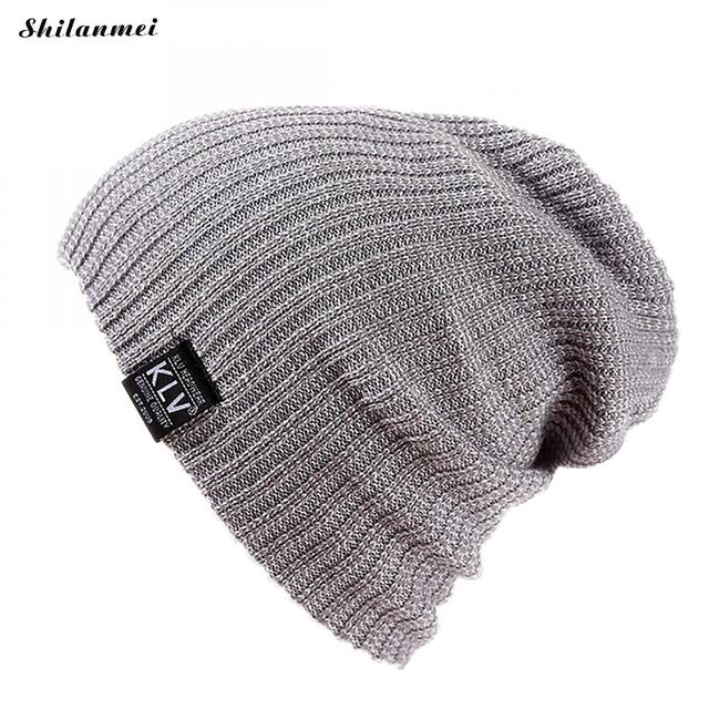 27cee55f94979 Men s Cool Beanie Slouch Skull Cap Fashion Baggy Hip Hop Hat Winter Warm Knitted  Beanie Skullies For Adult Unisex Teenager Hat-in Skullies   Beanies from ...