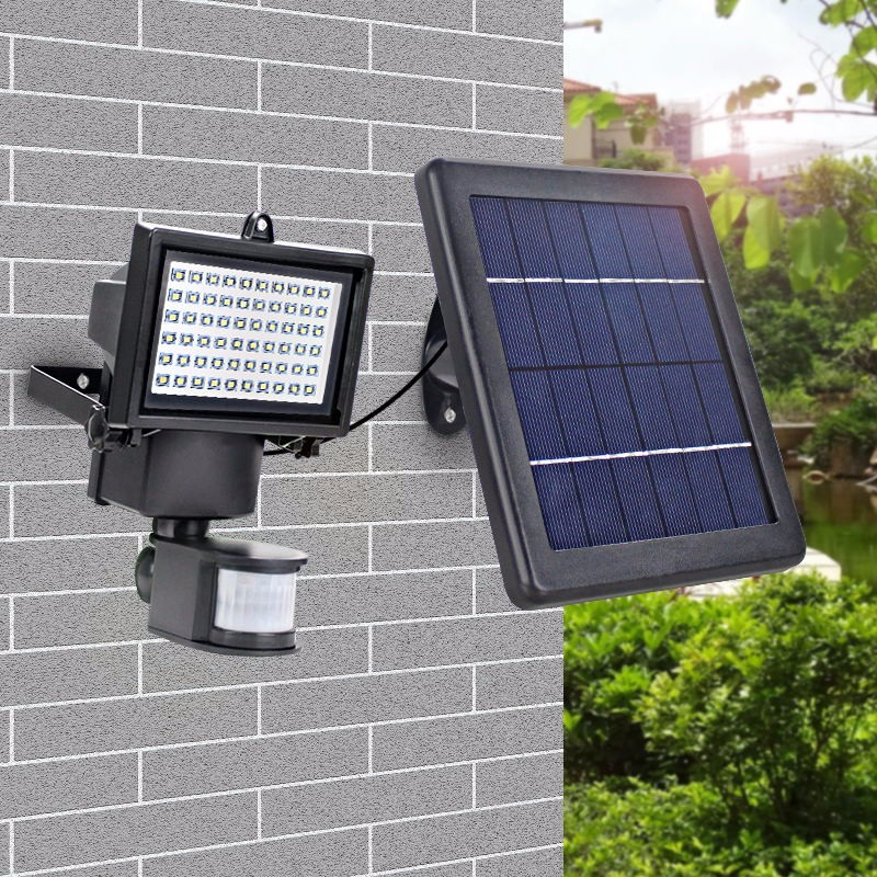 Superbright 60LED Solar Powered Security Lights Waterproof Outdoor Motion Sensor Lighting for Wall Patio Garden Landscape Lamp hot waterproof led solar light 46 led outdoor wireless solar powered motion sensor solar lamp wall lamp security lights