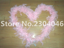 Beautiful pink 2 meters long (38-40 grams) decoration feather garment accessories wedding DIY fire feather fire tablets