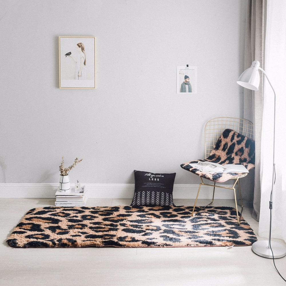 Гостиной/номер мягкие Нескользящие Леопард ковер 50X80 см стул подушку роскошный норки коврик модные декоративные ковры