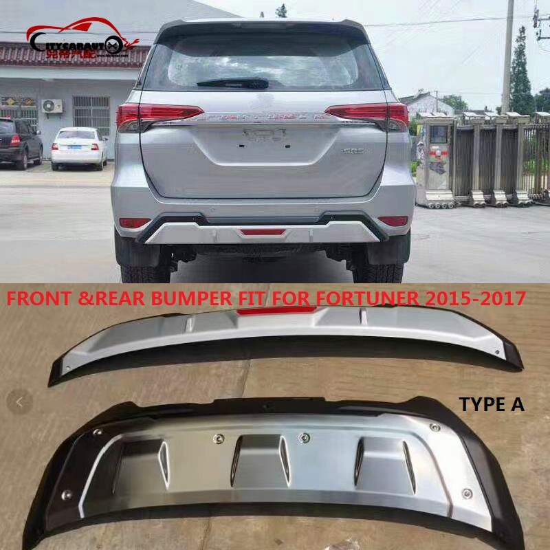CITYCARAUTO front bumper REAR BUMPERS Rear Bumper Protector Diffuser Spoiler FIT FOR TOYOTA FORTUNER 2015 -17 yandex w205 amg style carbon fiber rear spoiler for benz w205 c200 c250 c300 c350 4door 2015 2016 2017
