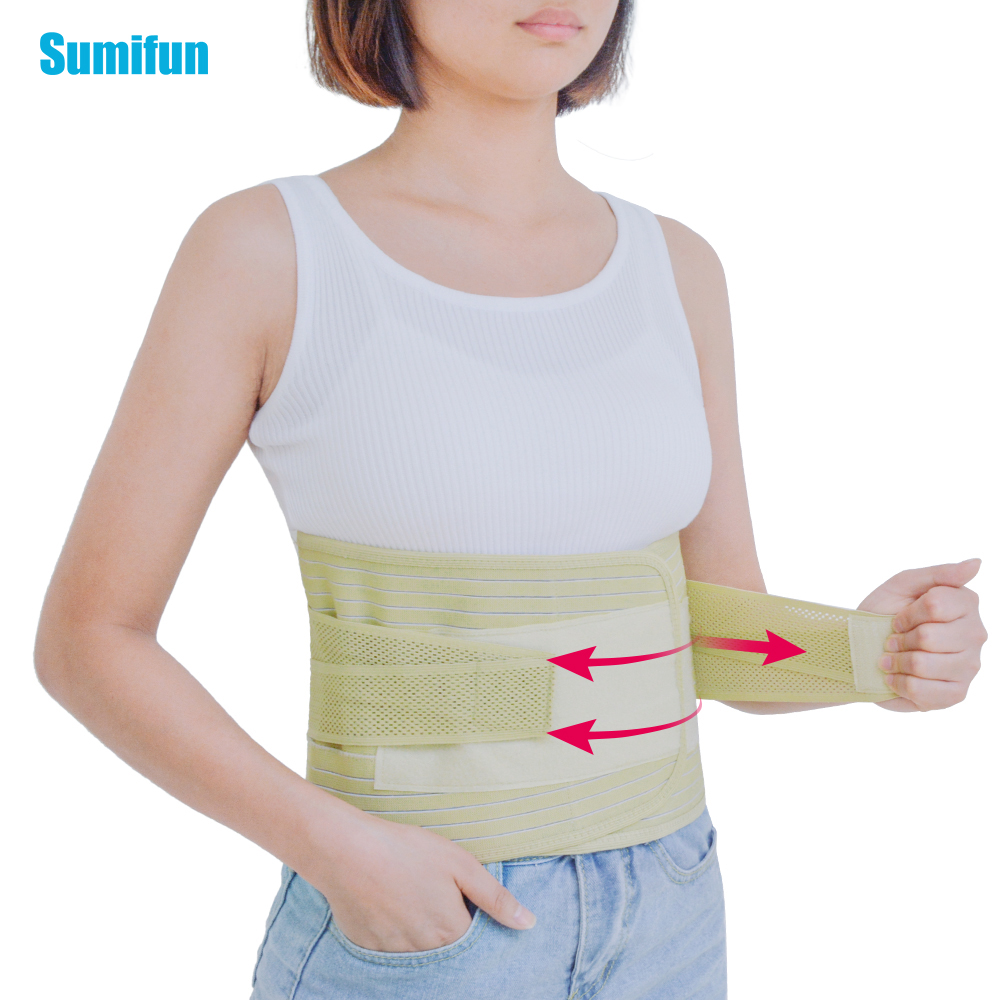 1Pcs Adjustable Breathable Lumbar Support Belt Back Waist Treatment of Lumbar Disc Herniation Lumber Muscle Strain C623 breathable medical waist support wrap brace belt lumbar disc herniation psoatic strain stainless steel rod