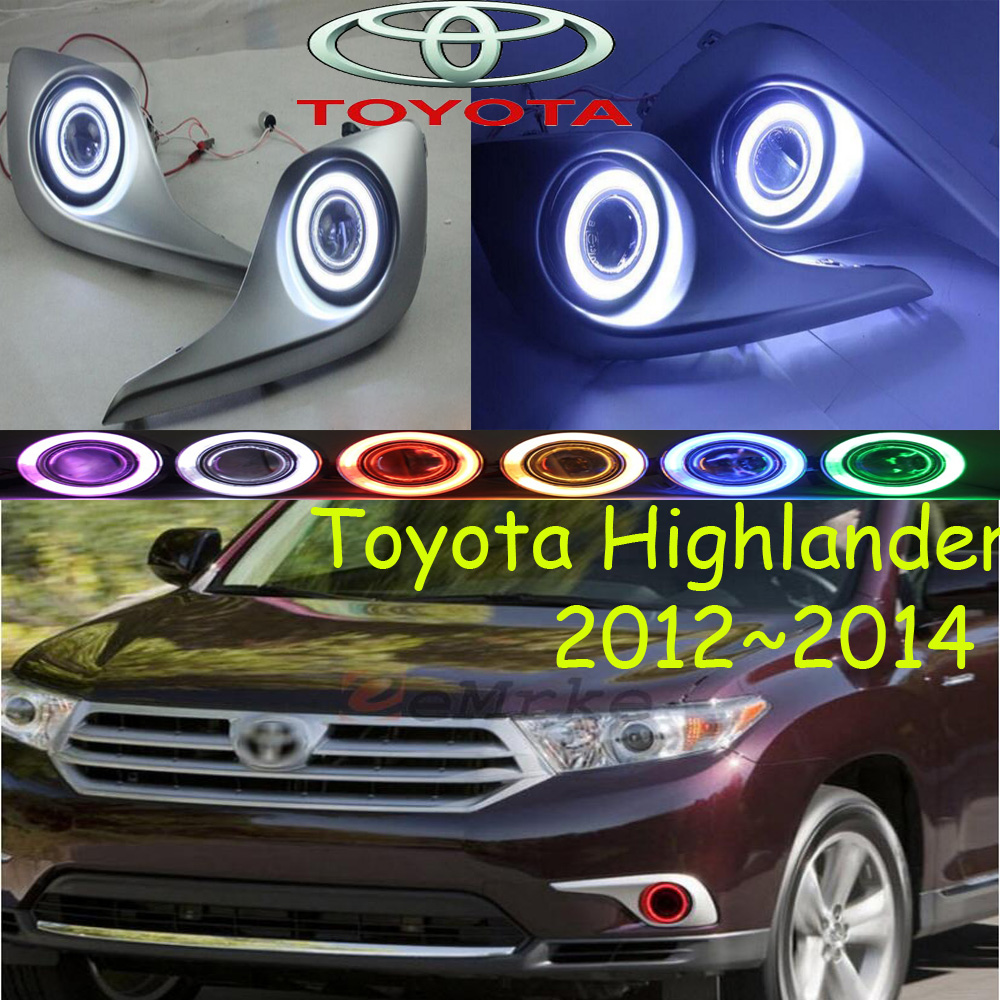 Car-styling,Highlander fog lamp,2012~2014,chrome,LED,Free ship!2pcs,Highlander head light,car-covers,Halogen/HID+Ballast; car styling highlander daytime light 2012 2014 free ship led chrome 2pcs set highlander fog light car covers highlander