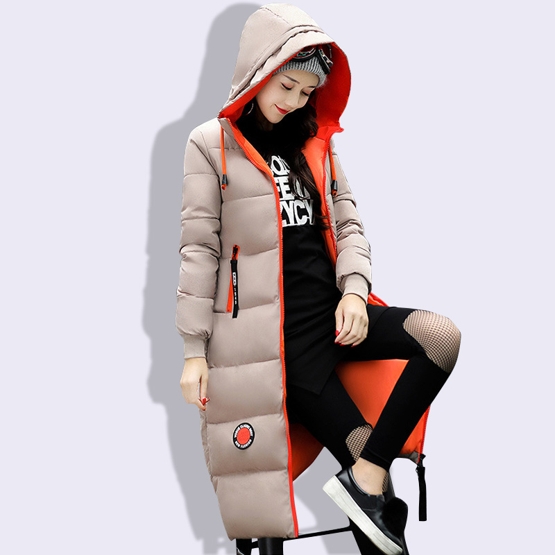 Winter Jacket Women 2018 Thick Warm Female Jacket Cotton Coat Parkas Long Jaqueta Feminina Inverno Women Hooded Coat Snow Wear snow wear 2017 winter jacket women warm thick long hooded cotton padded parkas causal female big faux fur collar jacket coat
