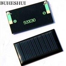 BUHESHUI  0.15W 5V Mini Solar Cell Polycrystalline Solar Panel Module DIY Solar Charger 53*30*3MM 100pcs Wholesale Free Shipping