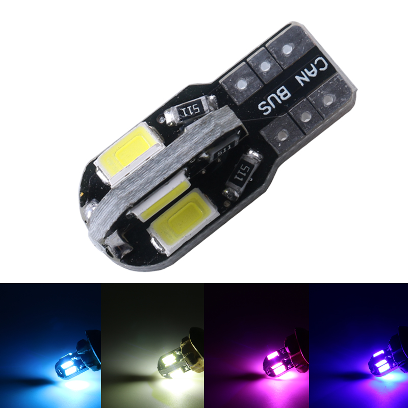 T10 8SMD 5630 LED Car Light Canbus NO OBC ERROR Auto Wedge Lamp 2825 W5W 8 SMD 5730 Led Parking Bulb 12V white iceblue 10pcs 2014 news car auto led t10 194 w5w canbus 6 smd 5630 led light bulb no error led light white