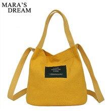 Mara 'S Dream 2019 Wanita Kanvas Tas Tangan Mini Single Bahu Tas Crossbody Messenger Tas Ember Tas Korea Luxury Wanita tas
