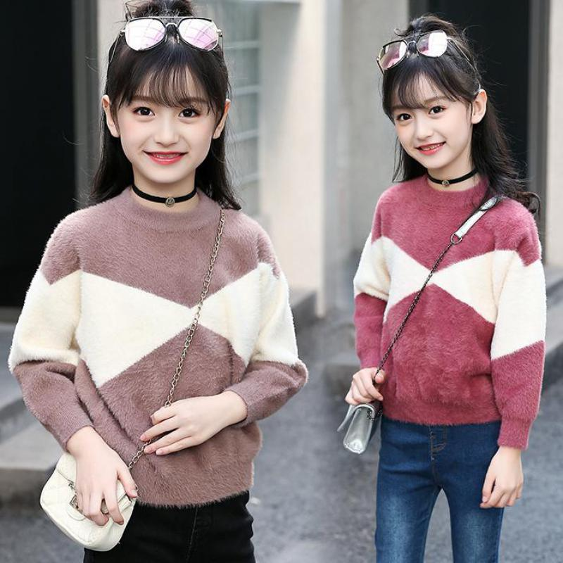 2018 New Sweater For Girls Long Sleeve Children Clothing Girls Sweaters Autumn Winter Teen Girls Clothes Christmas Gift Cardigan 2018 autumn and winter new girls sweaters children clothes 4 14 years girls sweater b8001