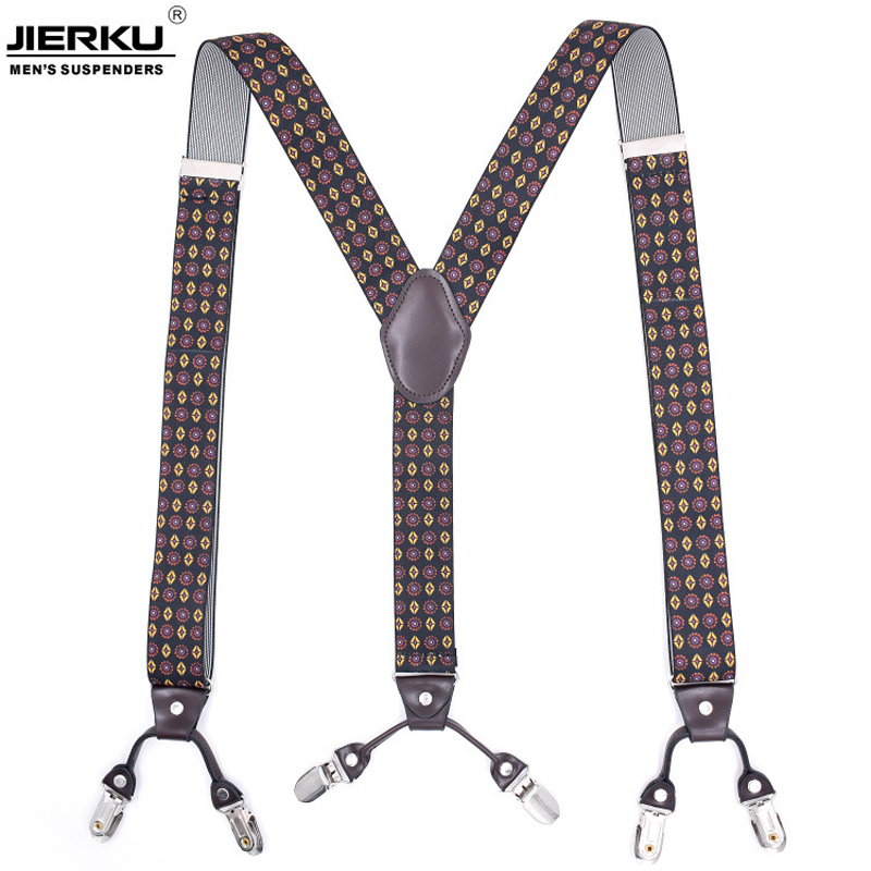 6 Clips Man's Suspenders Braces Elastic Suspenders Adult Straps Fashion Bretels Suspensorio Tirantes Hombre Bretelles