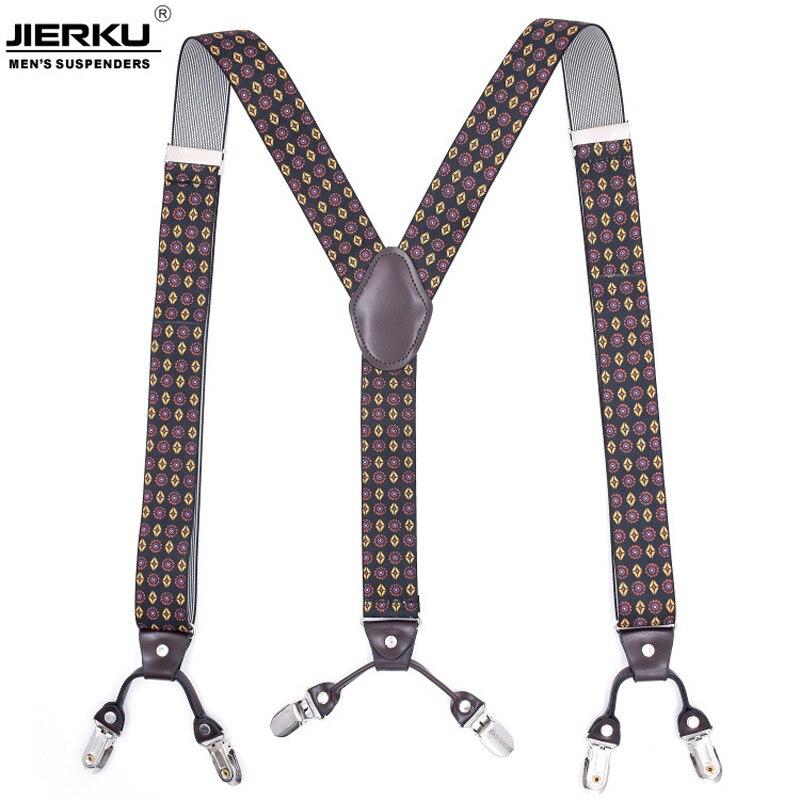 6 Clips Man's Suspenders Braces Elastic Suspenders Adult Straps Fashion Bretels Suspensorio Tirantes Hombre Bretelles