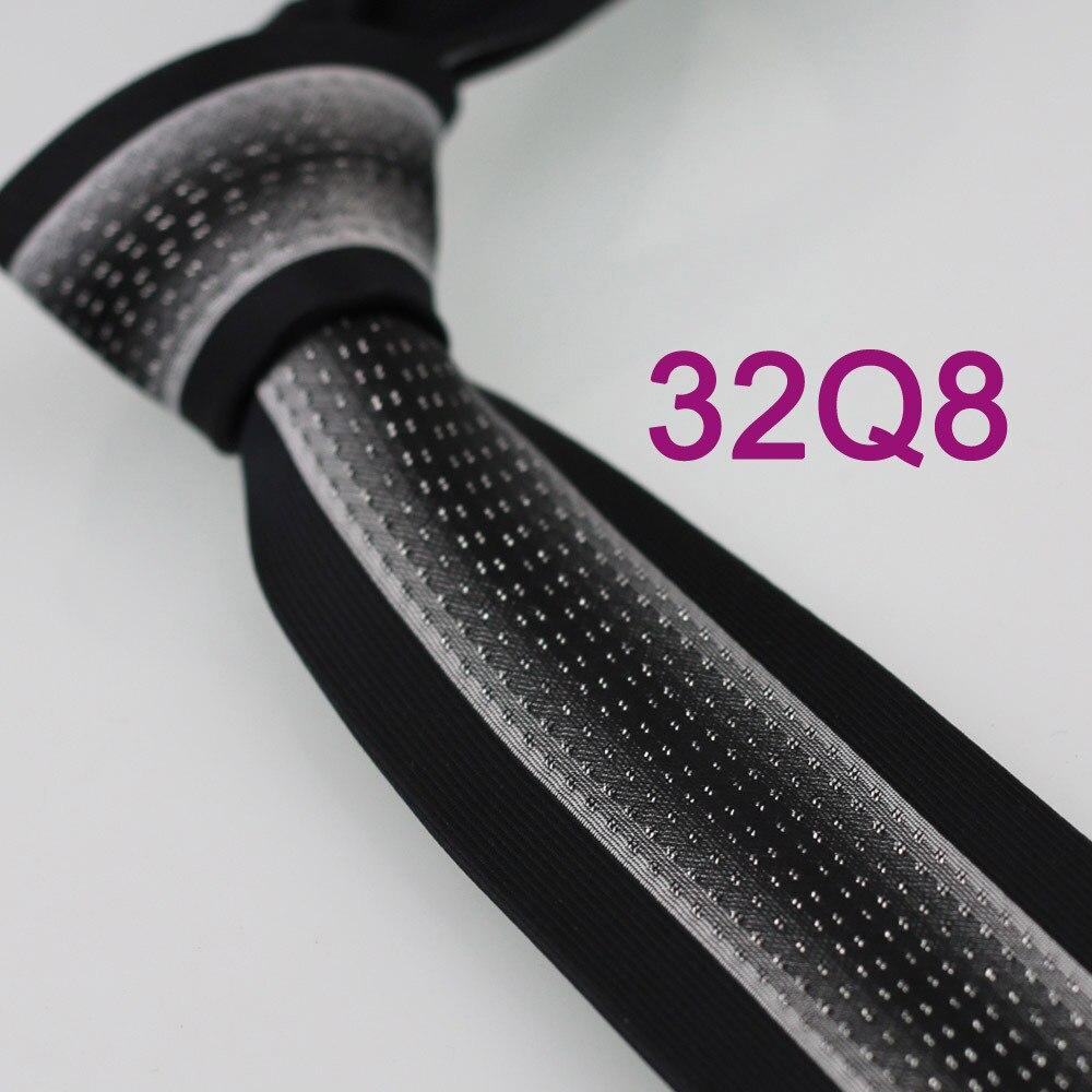 Yibei Coachella серебро в мелкий горошек трикотажный галстук серый черный в Вертикальную Полоску Gravatas де Седа Тонкий Тощий узкий corbatas Hombre - Цвет: Black Ties